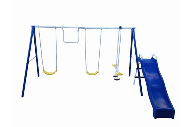 Flexible Flyer Swing and Play Swing Set with Play Set